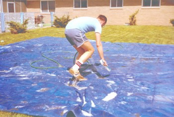 Pool Cover Cleaning