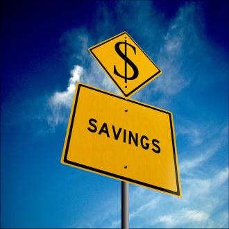 Money saving sign