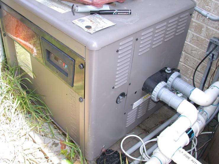 Instillation of Swimming Pool Gas Heater