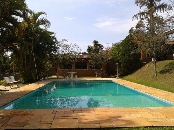 backyard swimming pool with cloudy water