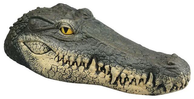 Floating Crocodile Head Water Decoy