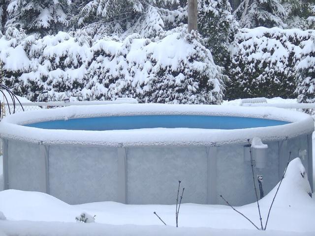 frozen swimming pool