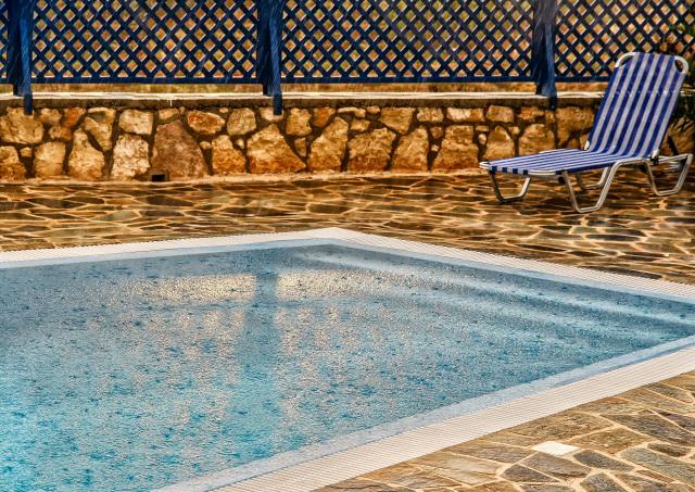 rain water on pool